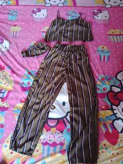 Jumpsuit set stripes