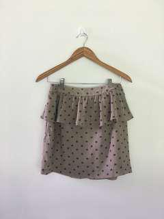 Rose pattern peplum skirt from 🇯🇵