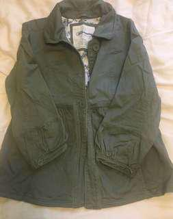 Olive green jean jacket- Size M