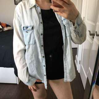 Garage Bleach Denim Shirt (XS)