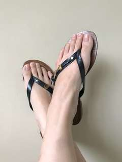 Tory Burch patent strap sandals