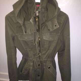 Garage Green Army Fall Jacket/Coat Size M