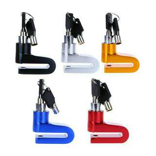 Disc lock for motorcycle