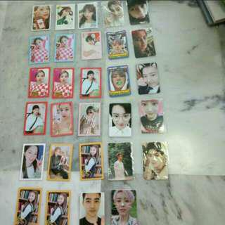 QYOP TWICE AND EXO PHOTOCARDS