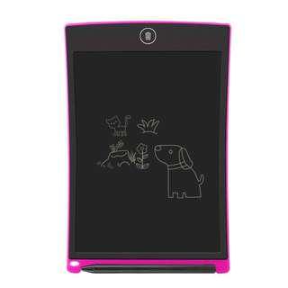 "HSP LCD Writing Tablet, Electronic Writing & Drawing Board Doodle Board, 8.5"" Handwriting Paper Drawing Tablet Gift for Kids and Adults at Home,School and Office (Pink / Black)"