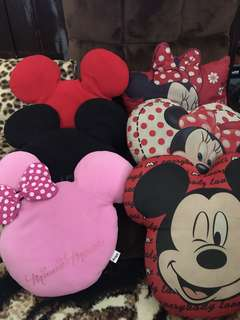Mickey and Minnie Mouse pillows