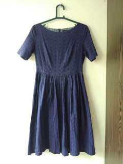 (BUY 2 RM60) REDUCED PRICE ⚡⚡Doublewoot navy blue dress