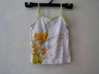 Disney Tinkerbell kids girl camisole top 迪士尼奇妙仙子女童吊帶背心