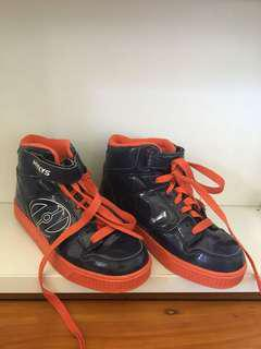 Blue and Orange Heelys! Kids Adult Boys Shoes