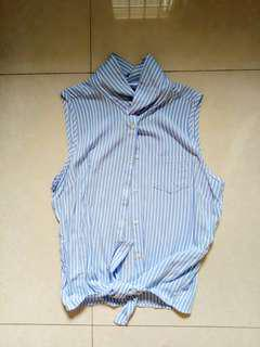 Cotton On Striped Self Tie Top