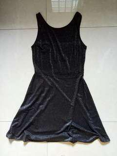 H&M Shimmer Black Dress