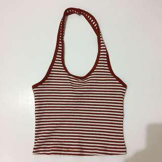 F21 striped halter top