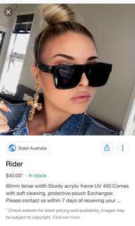 Soleil Rider Sunglasees Black