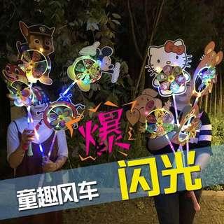 現貨 #抖音 LED帶燈三段 閃亮亮風車✨