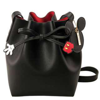 Disney x Grace Gift Mickey Mouse Drawstring Cylinder Bag