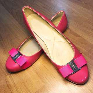 Salvatore Ferragamo Pink Varina Shoes (size 38.5)