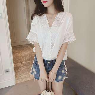 BNWT White Lace Top [INSTOCK]