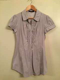 Button down long line shirt