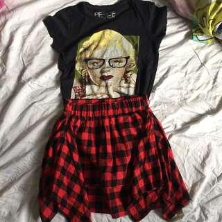 Checkered Skirt (Grunge 90s Style)