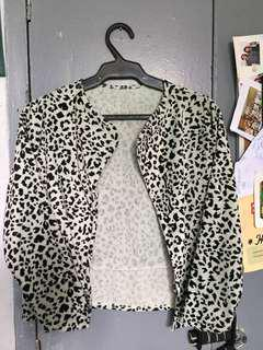 Velvet Animal Print Fashion Blazer