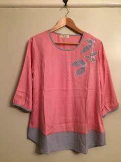 Pink top/blouse
