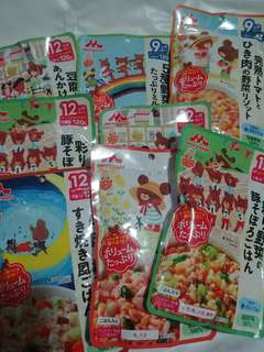 日本牌子即食baby food 8 包全新