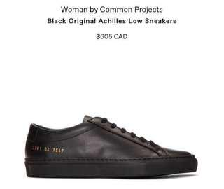 Black Common Projects: Achilles Low