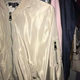BEIGE BOMBER FROM M