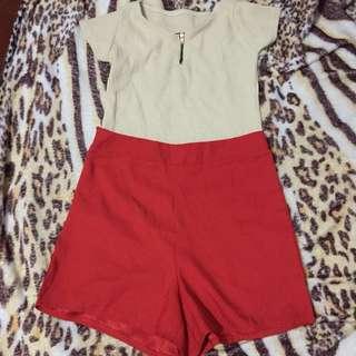 High waist shorts & Crop top