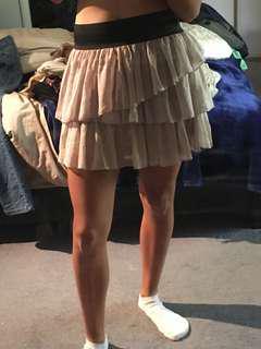 Beige/Tan Ruffle Skirt Size 8