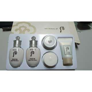 🚚 THE HISTORY OF WHOO Radiant White Trial Set