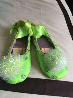 Preloved Disney Ballet flats apple green