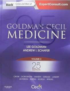 Goldman-Cecil Medicine - Goldman, Schafer - 2 Volume Set - 25th edition PDF