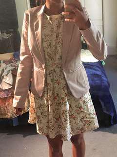 Pale pink suit coat