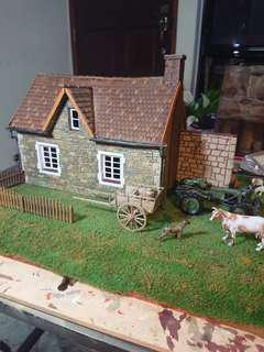 Diorama - 1/32 to 1/35 Scale Village House - Western Europe