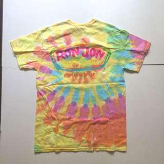 🚚 RON JON 衝浪品牌 短袖 手染 渲染 嬉皮 復古 街頭 螢光 露營