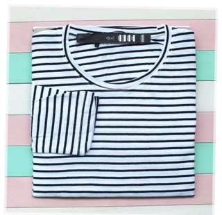 Stripe Tee White