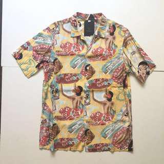 🚚 美國製 正宗 夏威夷襯衫  beauty & youth Hawaii 花襯衫 衝浪 騎士 古董 扶桑花 古著 vintage
