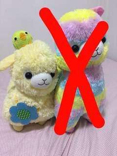 Alpaca stuffed toys set of two (48/ 38cms)