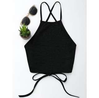 ♥️ZAFUL crop backless tank top