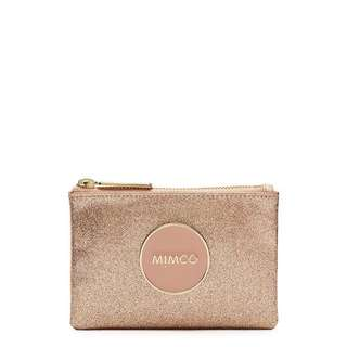 Mimco Shimmer Small Pouch Rose Gold