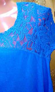 DKNY blue lace Blouse