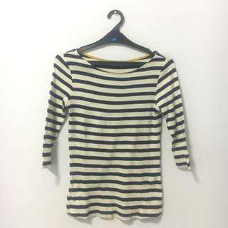 Zara Knit Stripe T Shirt