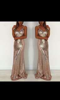 Backless Sequin Formal Dress