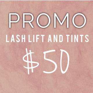 Lash Lifts & Tints
