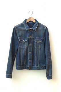 Vintage Blue Denim Jacket Permanent Collection Size 46