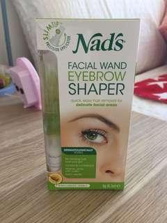 Nad's Natural Hair Removal Facial Wand Eyebrow Styler