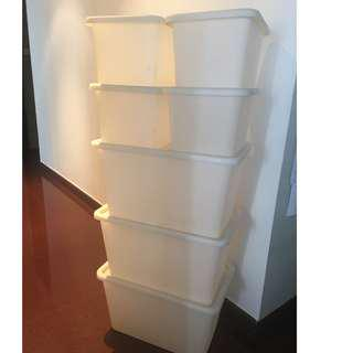 Ikea Plastic boxes with lids - All for $50