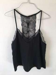 Neon Hart Lace Silk Camisole