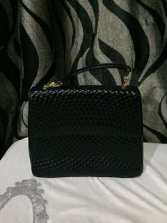 Authentic Bally Quilted Lambskin Hand Bag Shoulder Bag 💯Original